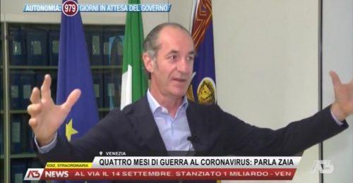 """Luca Zaia: """"Sono stato una voce familiare davanti alla paura"""""""
