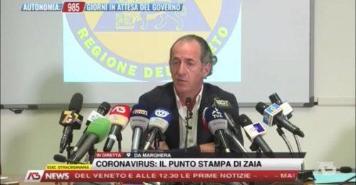 """Zaia shock: """"balzo dei contagi, ci vuole l'obbligo dei ricoveri per chi si rifiuta"""""""