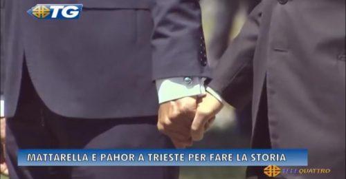 """Mano nella mano Pahor e Mattarella: un messaggio di """"Pace – Mir"""""""