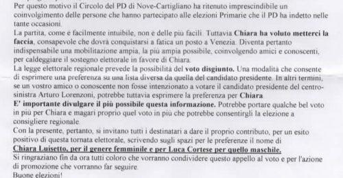"""Sostiene Lorenzoni ma invita al voto disgiunto. """"L'incidente"""" della candidata Pd"""