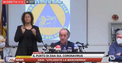 """Covid, Zaia: """"Entro 3-4 giorni in Veneto salirà il livello critico"""""""
