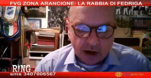 """Fvg Arancione, Dipiazza: """"Sono incazzato, una mossa politica. Chiamo Speranza"""""""