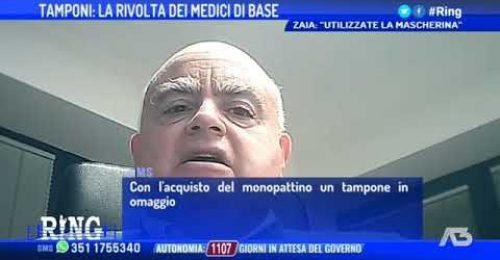 """Tamponi, scontro Zaia-medici di base: """"Ci ha svilito"""""""