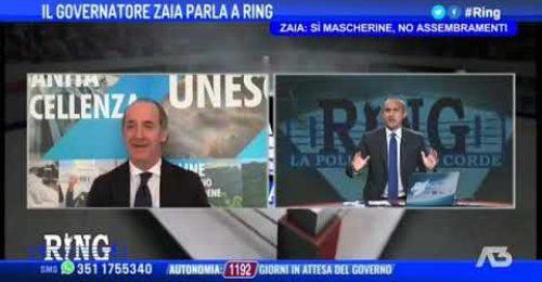 """Zaia Premier larghe intese? """"Faccio un dispiacere a pochi, ma resto in Veneto"""""""