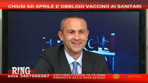"""Renzo Tondo: """"Ho dubbi, non faccio il vaccino. Sbagliato l'obbligo per sanitari"""""""